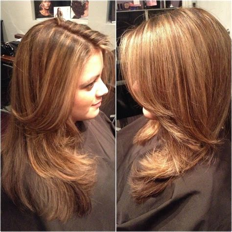 hairstyles women chocolate brown and caramel ends long hairstyles frost or highlights highlights