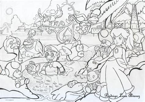 mario sunshine coloring pages super mario sunshine playa gelato 01 by