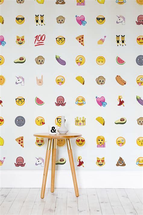 emoji wallpaper for rooms emoji wallpaper by murals wallpaper