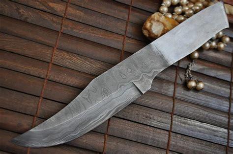 Handmade Steel - handmade damascus steel blank blade 9406 perkin