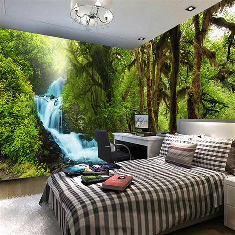 bedroom wall murals nature scenery 3d wall mural custom hd hd tropical rain