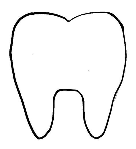 template of a tooth tooth pattern printables
