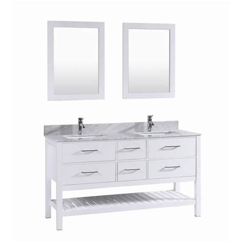 White 60 Inch Vanity by Shop 60 Inch Belvedere White Sink Vanity With