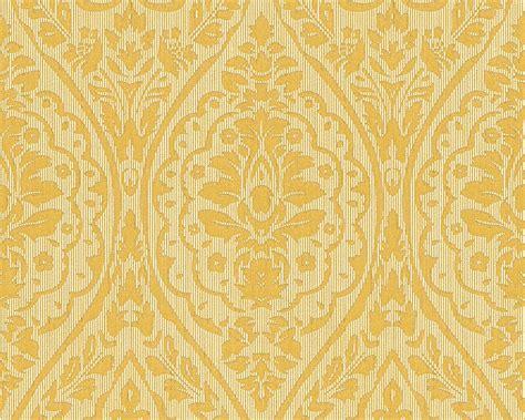 Vlies Papier by Tapete Vlies Barock Gelb Gold Tessuto 96195 1