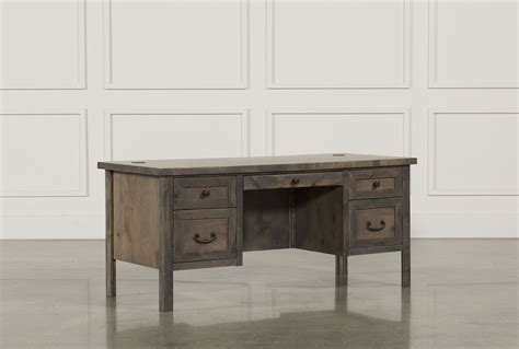 living spaces desk ducar ii executive desk living spaces