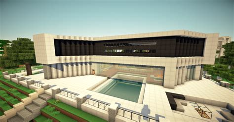 Ultra Modern Mansion [WOK Server] Minecraft Project