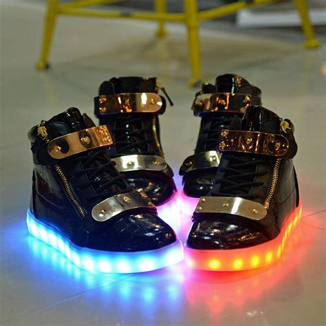 light up shoes mens size 12 plus size 10 11 12 13 led shoes couples glowing