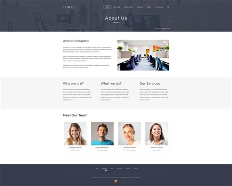 Responsive Joomla Application Template Zt Three About Page Template