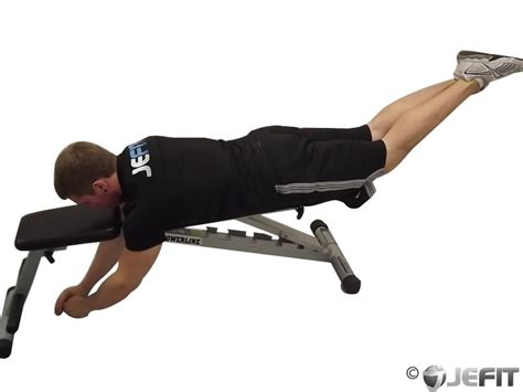 bench for back exercises reverse hyper on flat bench exercise database jefit