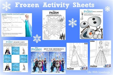 printable frozen activity book printable activity sheets for disneys frozen life with