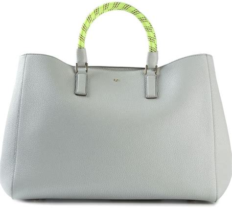Other Designers Anya Hindmarch Neeson Handbag Alba by Anya Hindmarch Large Side Smiley Featherweight Ebury Tote