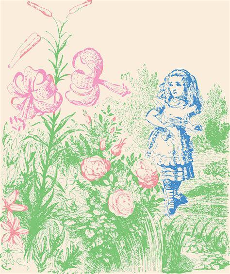 printable alice in wonderland flowers alice in wonderland flowers drawing by