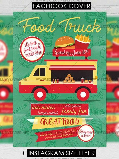 Food Truck Premium A5 Flyer Template Exclsiveflyer Free And Premium Psd Templates Food Truck Flyer Template