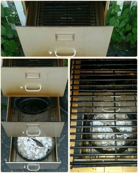 Turn that old filing cabinet into a smoker!   The Owner