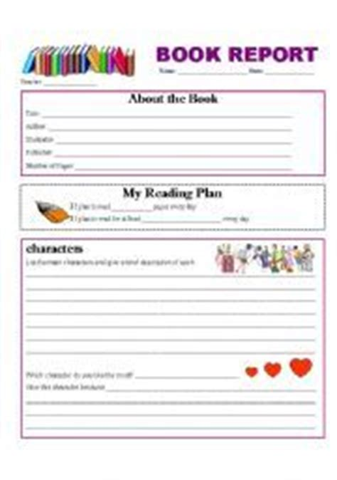 Free Third Grade Book Report Template Free 2nd Grade Book Report Template Yahoo Image Search