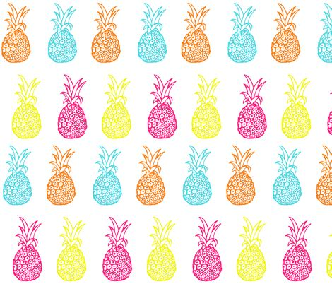 Topi Fashion Kpop Bright Pineapple Shape Deisgn Knitting Neon Summer Bright Pineapple Print Fabric