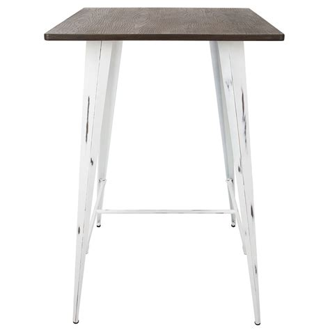 White Bar Table Modern Bar Tables Oakland White Bar Table Eurway