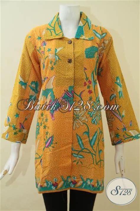 Batik Pria Motif Leaf Kuning batik blus kuning desain terbaru tahun ini pakaian batik