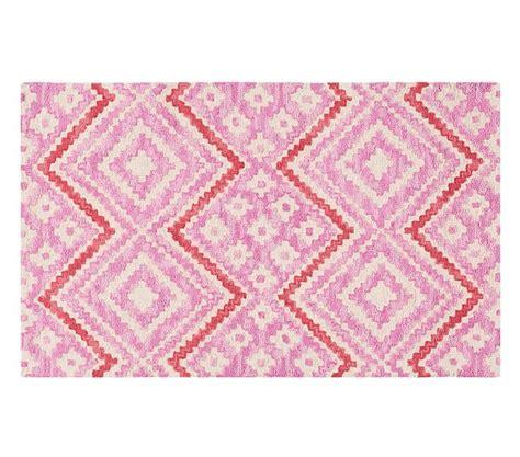 Pottery Barn Coral Rug Chunky Chevrogram Rug Pink Coral 3x5 Pottery Barn