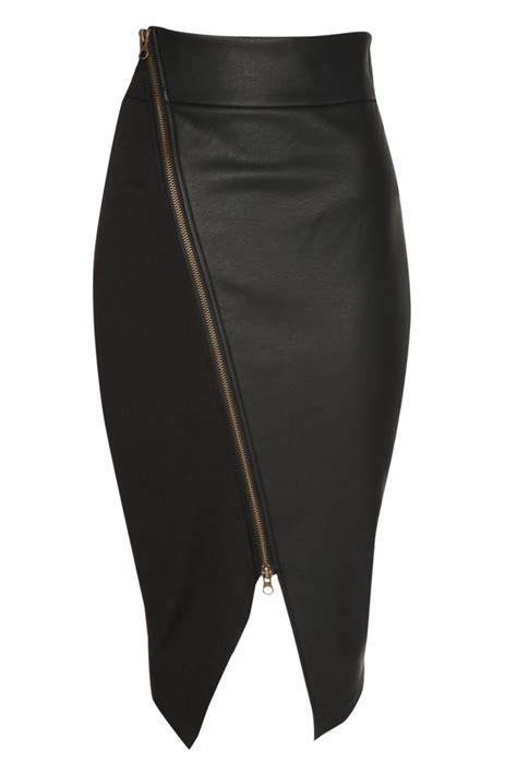 falda con cierre al costado falda negra con cierre al lado cindi s boutique
