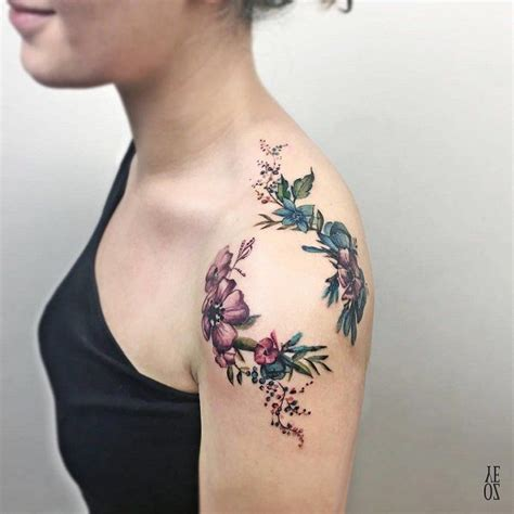 small flower tattoos on back shoulder 129 best ideas images on