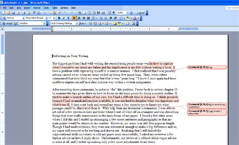 layout word 2003 how to view inserted comments in various versions of