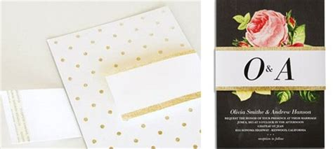 Wedding Paper Divas Belly Bands by Foil Wedding Invitations That Look Expensive But