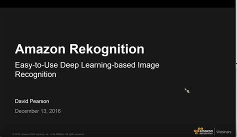 amazon rekognition amazon rekognition deep learning based image analysis