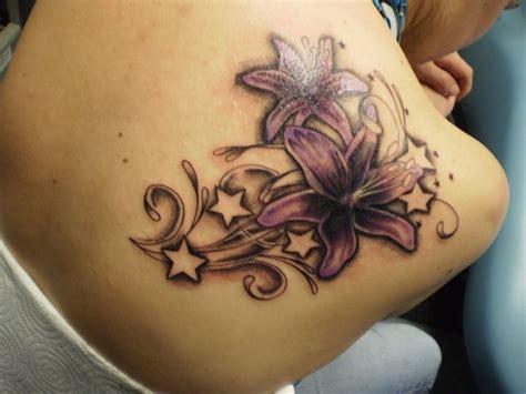 tattoo flower stars designs 36 top star tattoo on shoulder golfian com