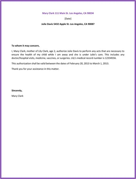 Authorization Letter Template Letter Of Authorization Sle Best Letter Sle