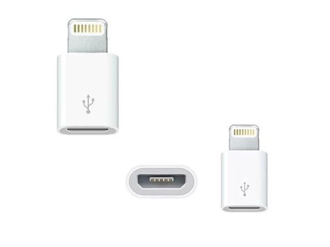 Connector Lightning To Usb Apple 8 pin lightning to 5 pin micro usb adapter for