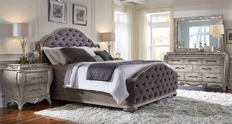 upholstered bedroom furniture aico hollywood swank upholstered bedroom set picture