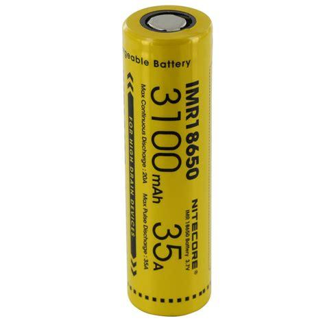 Baterai Kotak nitecore imr18650 baterai vape 3100mah 35a 3 7v yellow