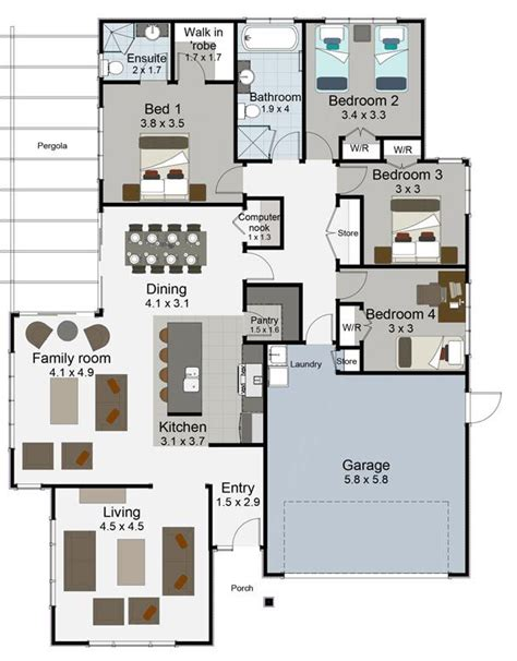 nz house plans 4 bedroom best 25 4 bedroom house plans ideas on pinterest house plans country house plans
