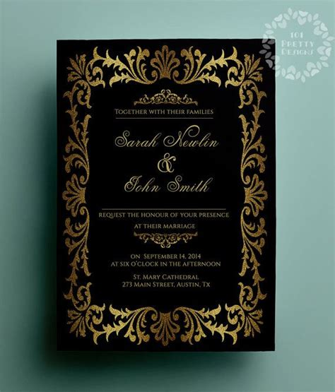 17 Best Ideas About Invitation Templates On Pinterest Diy Wedding Invitations Templates Free Glitter Invitation Template