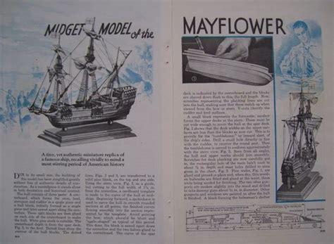 vintage   build mayflower wooden scale model pilgrim