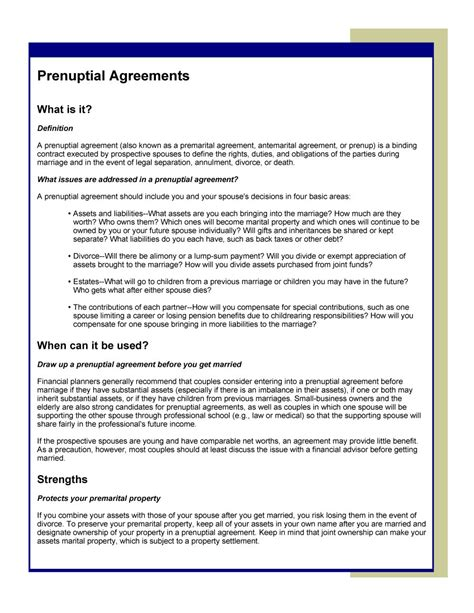 prenuptial agreement template 30 prenuptial agreement sles forms template lab