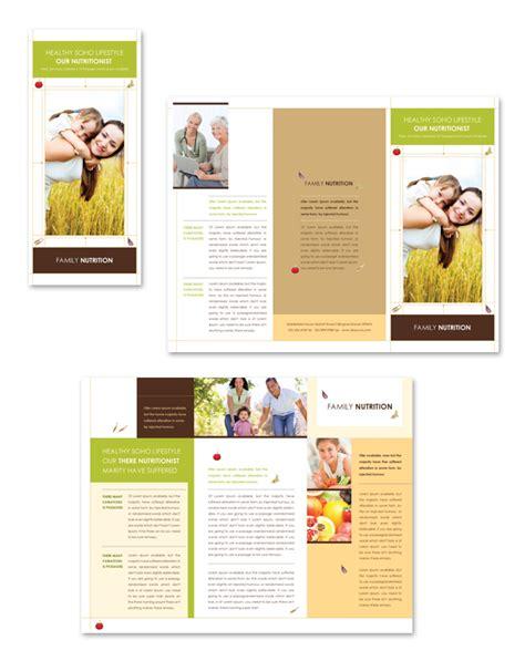 Nutritionist Tri Fold Brochure Template Dlayouts Graphic Design Blog Health Coach Brochure Templates