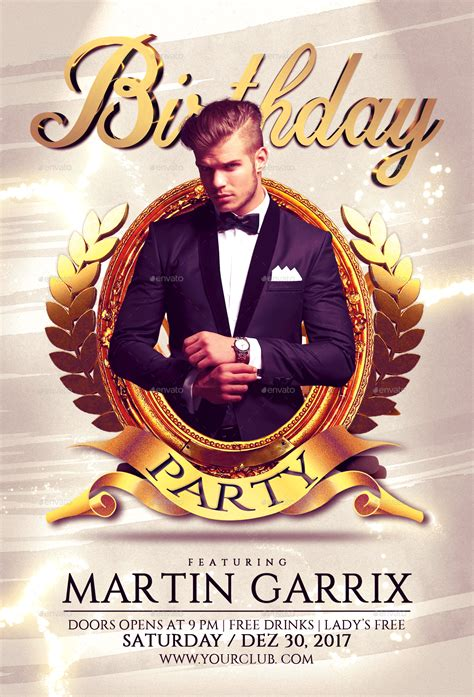 birthday party flyer template  fas design graphicriver