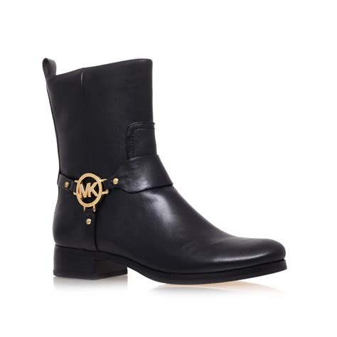 michael kor boots michael kors fulton harness bootie low heel ankle boots in