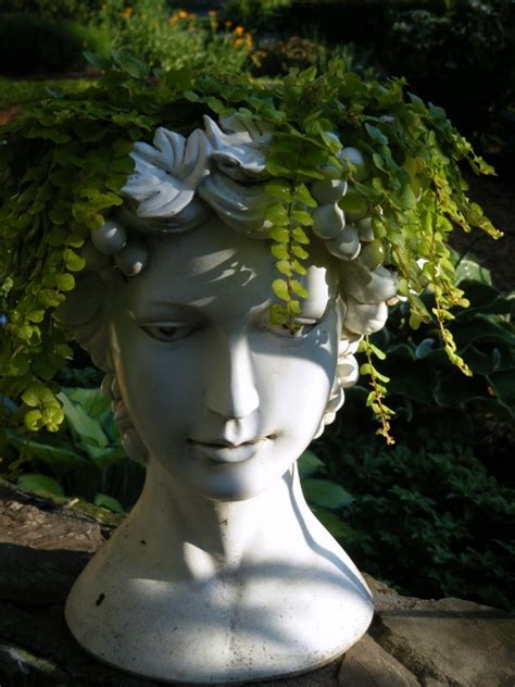 Bust Planter by Planters In Concrete And Cement