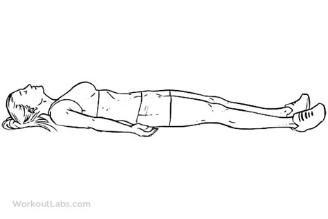 downward position supine lying position corpse pose workoutlabs