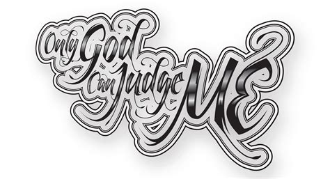 only god can judge me tattoo design only god can judge me