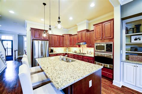 Custom Built Kitchen Island Luxury Townhome For Sale In Sandy Springs One River