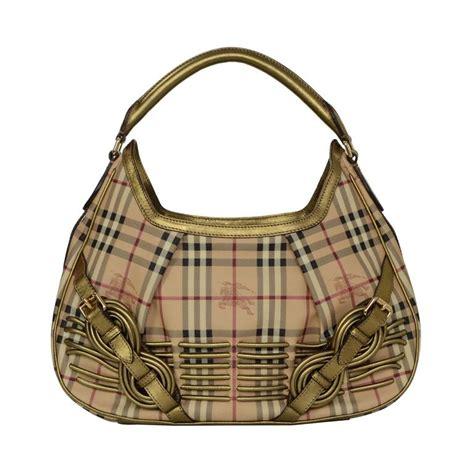 Burberry Plaid Shoulder Bag by Burberry Plaid Shoulder Bag W Bronze Leather