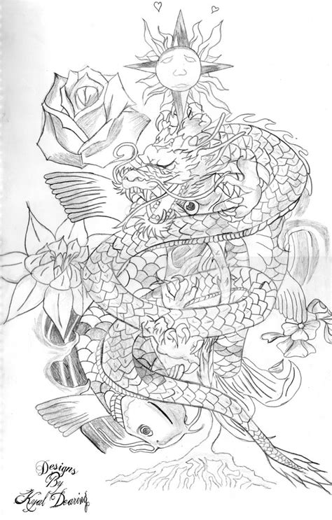 koi to dragon tattoo design sfesfefefeeg koi fish design