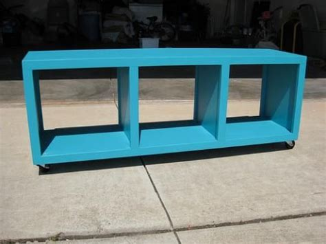 rolling cubby bench diy storage bench cube storage
