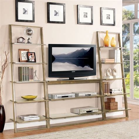 riverside furniture lean living leaning bookcase in smoky driftwood riverside furniture lean living tv stand in smoky