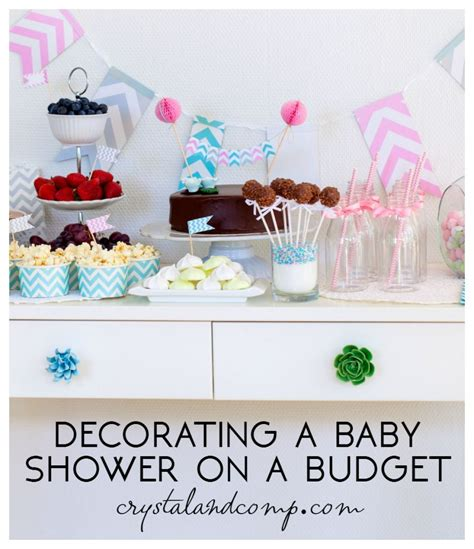 Decorating For A Baby Shower On A Budget by Tips For Decorating A Baby Shower Crystalandcomp