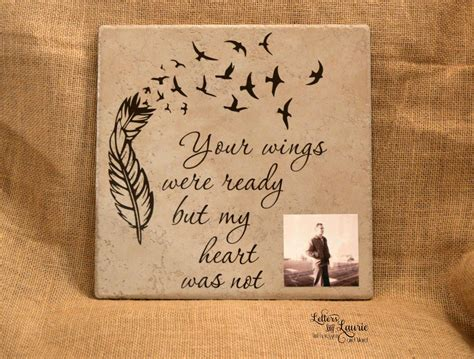 christmas ideas fpr someone who lost a loved one in loving memory gift your wings were ready memorial gift loss of a loved one remembrance